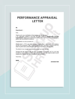 4-Performance Appraisal letter