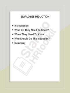 EMPLOYEE INDUCTION