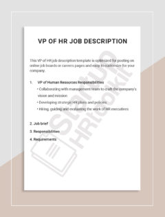 VP of HR job description